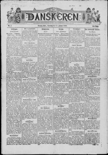 First page of first issue of Danskeren.