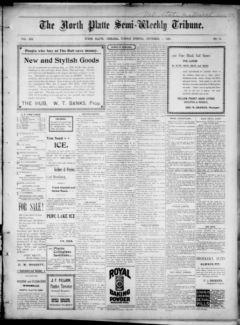 Nebraska Newspapers « The North Platte semi-weekly tribune