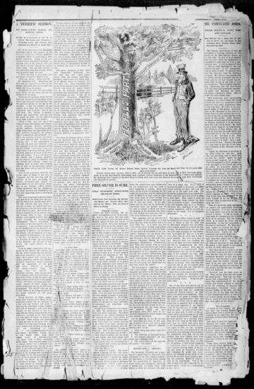 First page of first issue of The weekly independent.