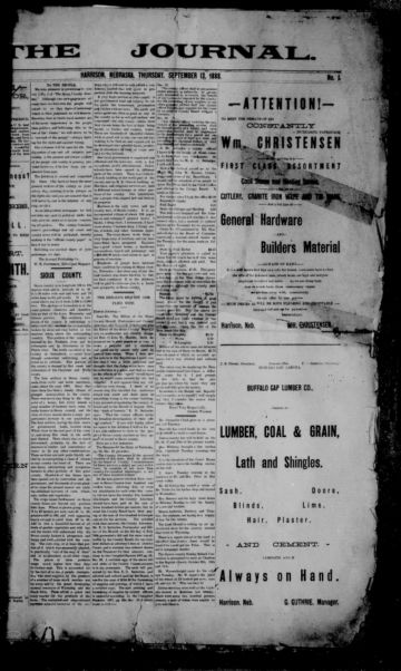 First page of first issue of The journal.
