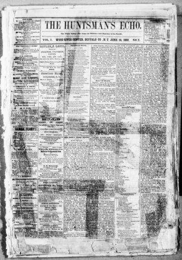 First page of first issue of The huntsman's echo.