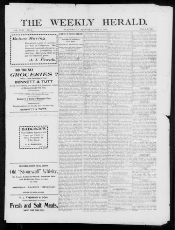 First page of first issue of Semi-weekly news-herald.